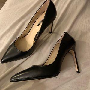 Black Zara high heels